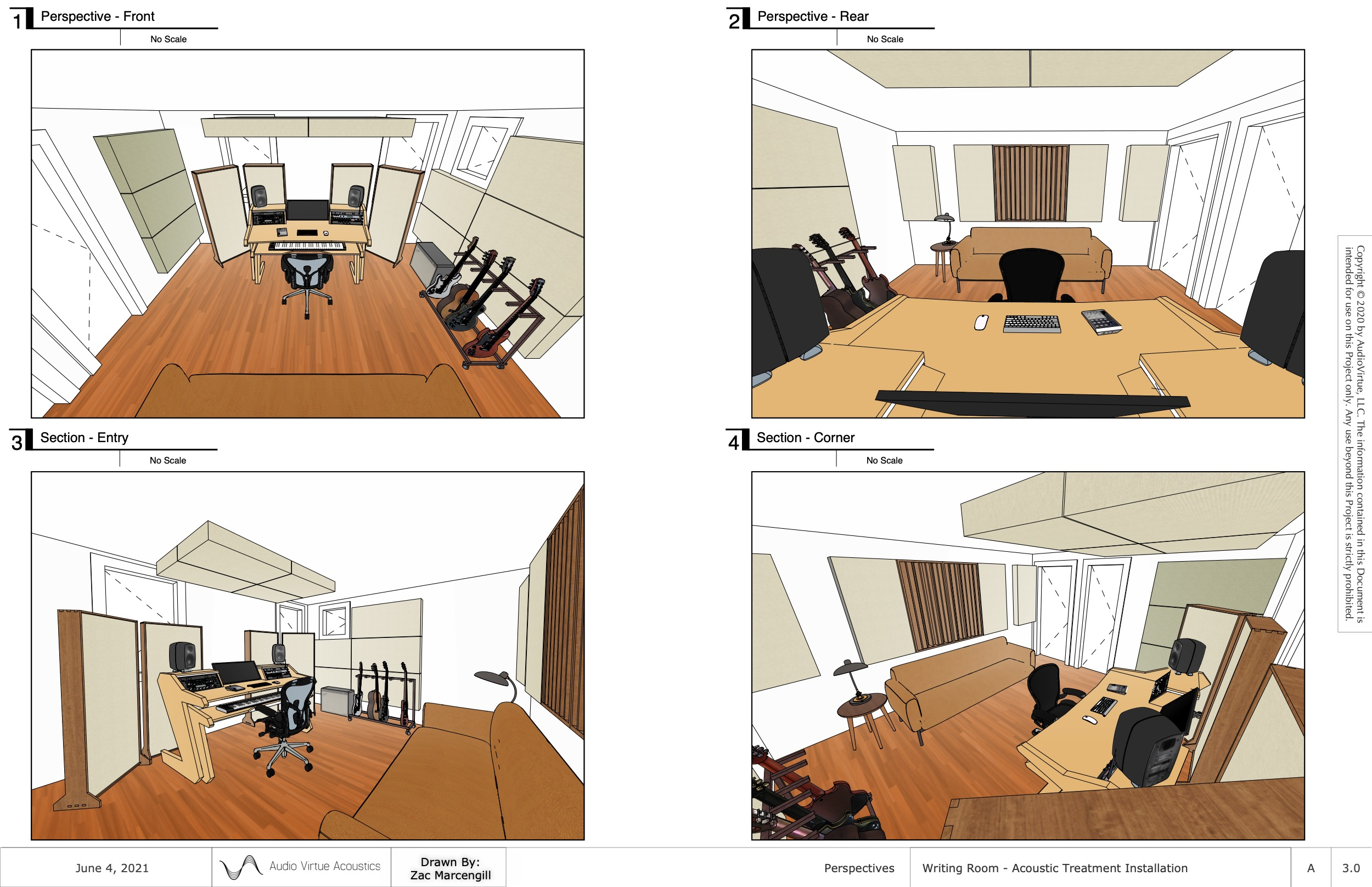 3D Acoustic Modeling: Installation Drawings